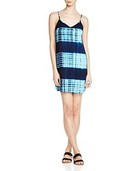 Aqua Tie Dye Stripe Cami Dress Navy Sky