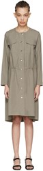Nomia Taupe Snap Front Dress