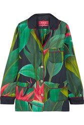 F.R.S For Restless Sleepers Rea Printed Silk Twill Shirt Green