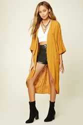 Forever 21 Embroidered Floral Kimono
