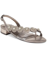 Adrianna Papell Daisy Evening Sandals Women's Shoes Gunmetal