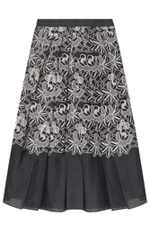 Tibi New York Embroidered Cut Out Party Full Skirt