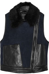 Ohne Titel Shearling And Suede Vest