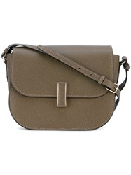 Valextra Foldover Crossbody Bag Women Calf Leather One Size Brown