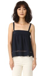 Jenni Kayne Gathered Band Cami With Lace Navy