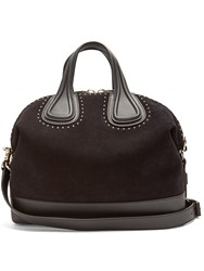 Givenchy Nightingale Embellished Suede And Leather Tote Black