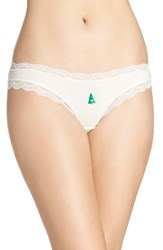 Cheekfrills Women's Lace Trim Bikini Christmas Tree