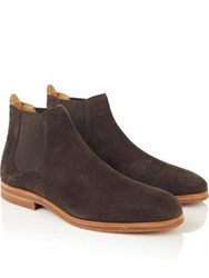 Hudson Tonti Suede Chelsea Boots Brown