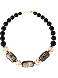 Balenciaga Vintage Beaded Necklace Black