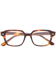 Ray Ban Patterned Square Frame Glasses 60