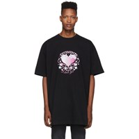 Vetements Black Valentines Logo T Shirt