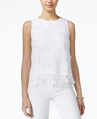 Xoxo Juniors' Embroidered Lace Tank Top White