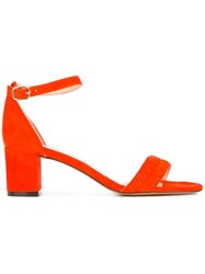 Tila March Amalfi Sandals Women Leather Goat Suede 37 Red