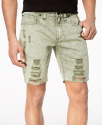 Inc International Concepts I.N.C. Men's Olive Shredded Shorts Created For Macy's