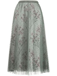 Red Valentino Redvalentino Floral Print Tulle Skirt 60