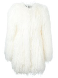 Philipp Plein 'Milena' Coat White