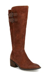 Born B Rn Basil Knee High Boot Rust Distressed Leather