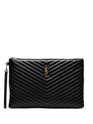 Saint Laurent Large Monogram Document Holder Black