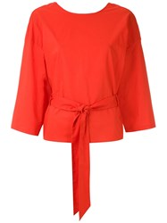 Andrea Marques Belted Wrap Blouse 60