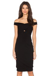 Mason By Michelle Mason Cross Strap Dress Black