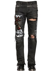 Faith Connexion 19Cm Embellished And Destroyed Denim Jeans