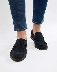 Pier One Suede Loafers In Navy
