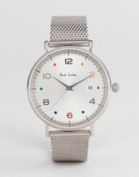 Paul Smith Ps0060001 Gauge Colour Mesh Watch In Silver 41Mm
