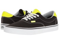 Vans Era 59 Neon Leather Black Neon Yellow Skate Shoes