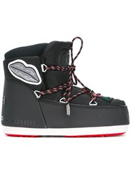 Msgm Patched Snow Boots Black