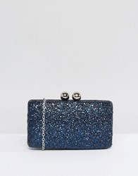 Chi Chi London Glitter Clutch Bag Navy