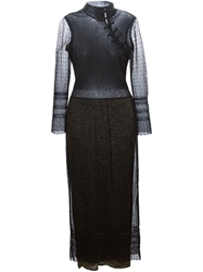Christian Dior Vintage Long Lace Lame Dress