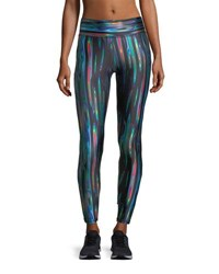 Terez Liquid Metal Performance Leggings Black Pattern