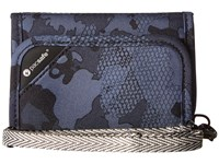 Pacsafe Rfidsafe V125 Anti Theft Rfid Blocking Trifold Wallet Grey Camo Wallet Handbags Multi