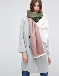 Asos Supersoft Long Woven Scarf In Colour Block Multi