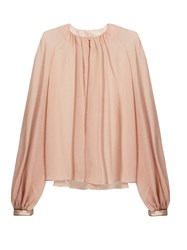 Roksanda Ilincic Wallesley Balloon Sleeved Silk Seersucker Blouse Light Pink