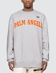 Palm Angels New College Logo Sweatshirt Grey
