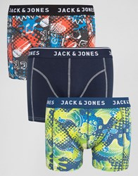Jack And Jones Trunks 3 Pack With Print Multi