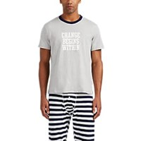 Sleepy Jones Jackson Cotton T Shirt Gray