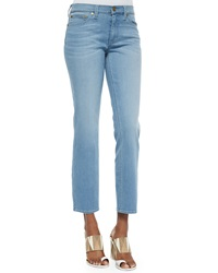 Tory Burch Cropped Straight Leg Jeans