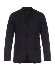 Rag And Bone Salute Philips Deconstructed Cotton Blazer Navy