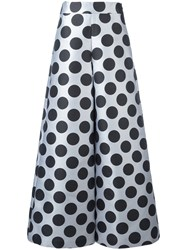 Ultrachic Polka Dot Palazzo Pants Black