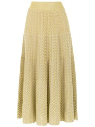 Cecilia Prado Cassia Midi Skirt Yellow And Orange