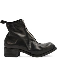 Guidi Front Zip Ankle Boots Women Horse Leather 38 Black
