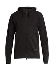 Y 3 Future Craft Zip Front Hooded Sweatshirt Black