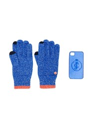 Juicy Couture Glittered Gloves And Iphone 4 Case Blue