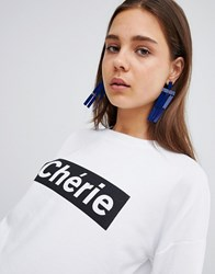 New Look Cherie Sweatshirt White