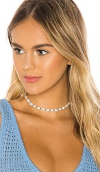 Joolz By Martha Calvo The Bondi Pearl Choker In White. Ivory