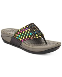 Bare Traps Denna Stretch Thong Sandals Women's Shoes Black Multi