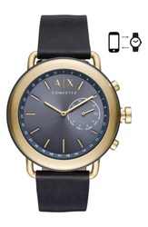 Armani Exchange Ax Connected Hybrid Leather Strap Smartwatch 47Mm