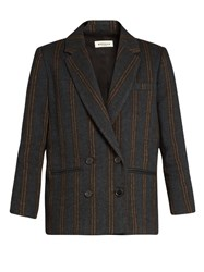 Masscob Double Breasted Striped Jacket Multi